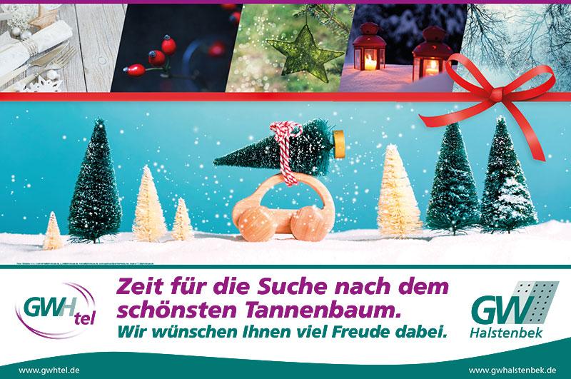 Plakat GWH und GWHtel Halstenbek Weihnachten