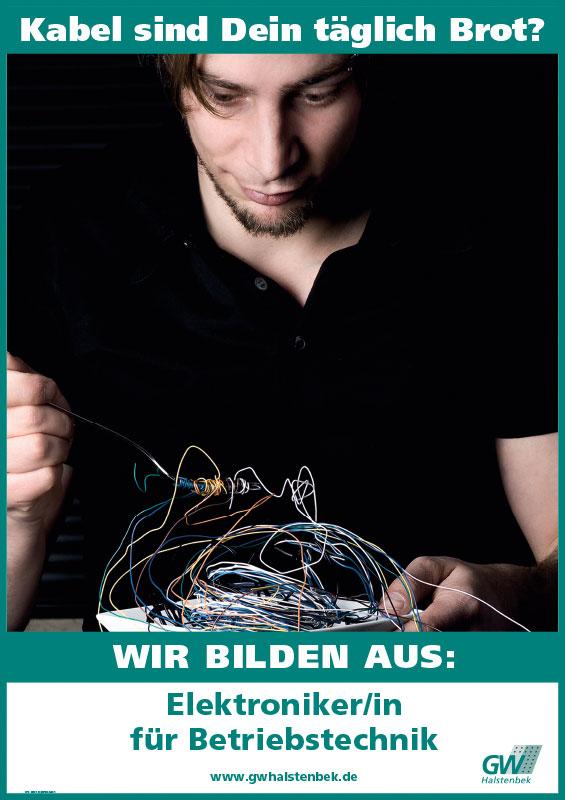 Plakat GW Halstenbek Ausbildung Elektrotechniker