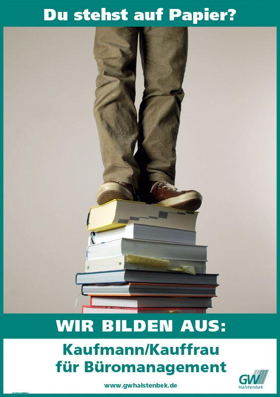 Plakat GW Halstenbek Ausbildung