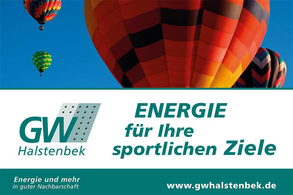Strauch: Banner GW Halstenbek Energie - Ballon