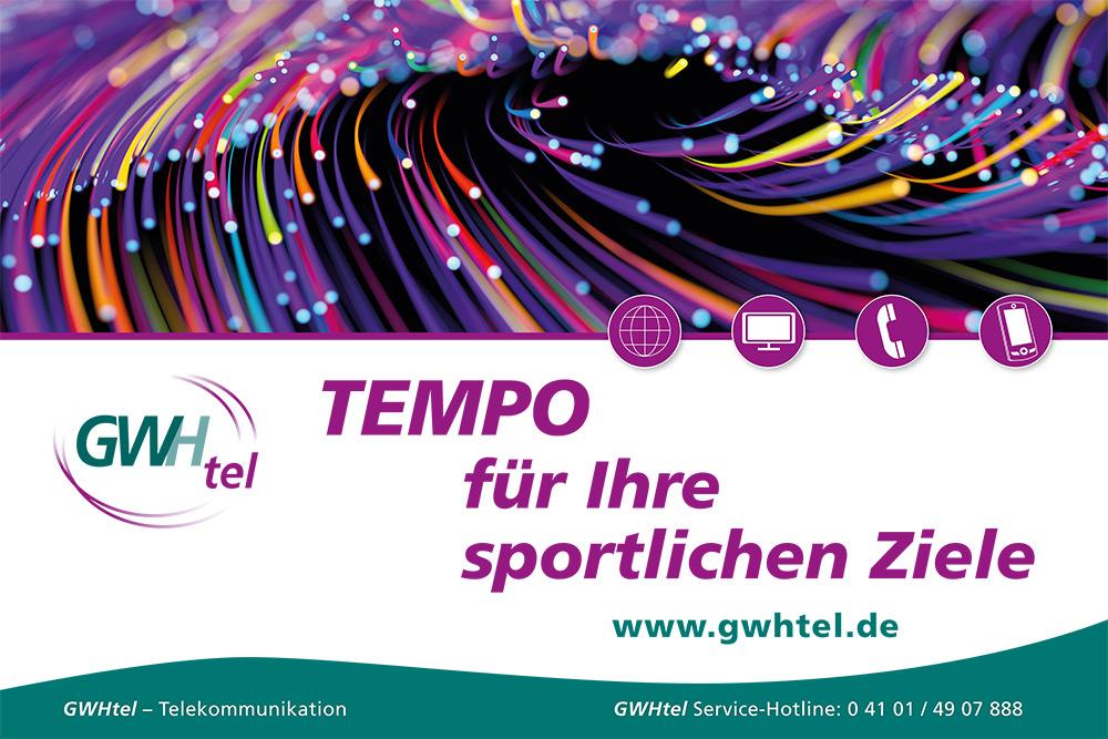 Strauch: Banner GWHtel Halstenbek Glasfaser