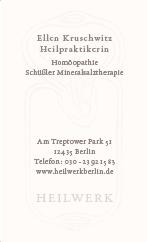 Susanne von Strauch - Kruschwitz - Visitenkarte